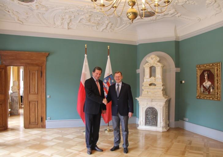 Rozmowa Bodo Ramelow z Jerzym Margańskim w Erfurcie