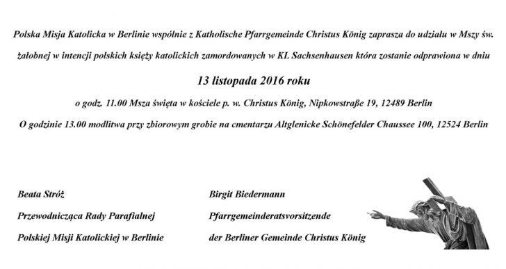 Uroczystość w Berlinie ku czci polskich księży