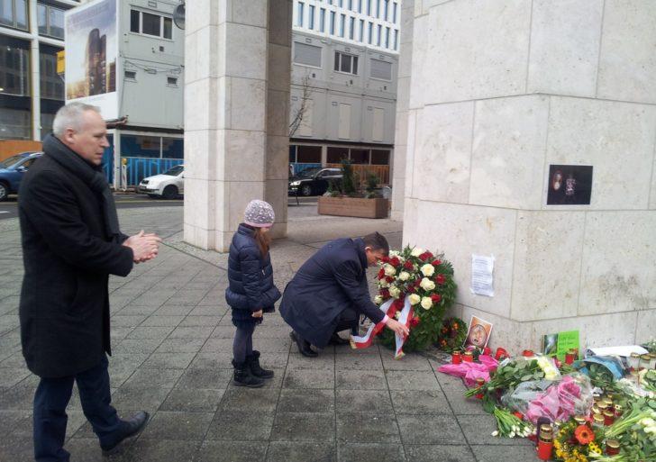 Andrzej Przyłębski złożył wieniec w Berlinie